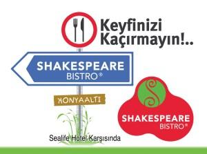 Shakespeare Bistro Konyaaltı Megalight Doğu